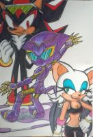 My Sonic Riders Story/Comic Poster 01 Coloured by Sky-The-Echidna