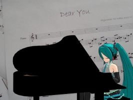 Miku playing and singing by desi-chan97