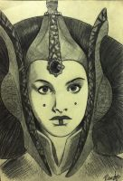 Queen Amidala Biro sketch by halfpennyro04