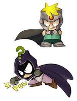 Professor Chaos and Mysterion by Sketched-UP