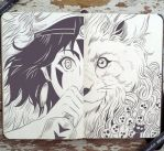 #65 Princess Mononoke by 365-DaysOfDoodles