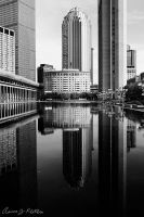Boston Reflection BW 1 by photoboy1002001