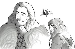 Thorin and Kili by wulfricFROST