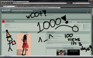 1,000 VIEWS by Pollito-is-Artzy