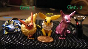 Eeveelution Gen 1 and 2 by SqueekyClean-801