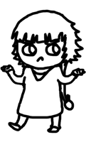 Confused Soi fon Lineart by ChibiDee-nya