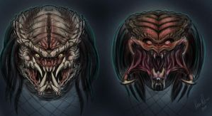 Predator Sketches by ACivicDilemma