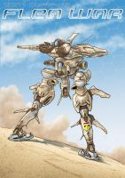 Egyptian Army Biped Armor by Rob-Cavanna