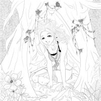 Hiding Place LineArt by shidesha