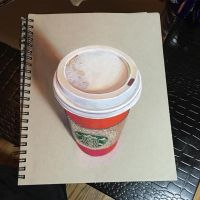 3D Realistic Starbucks Cup Drawing by PonyLawson
