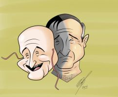 Robin Williams cartoon by Kryptoniano