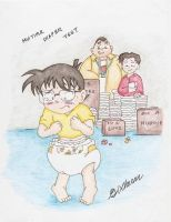 Conan's Multiple Diapers (Request) by SDCharm