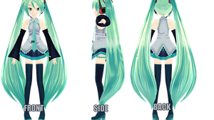 -MMD UPDATE - Animasa Texture Miku by NoUsernameIncluded