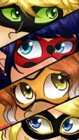 The new Team ~ Miraculous Ladybug by LuchianaLove