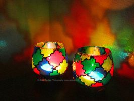 Candle Holders A La Stained Glass by cardiae