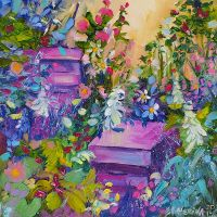 Beehives in the Garden by Ekaterina Chernova by EkaterinaChernova