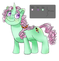 MLP OC - Bubble Mint by Caustic-Creations
