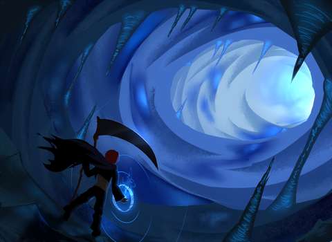 Icy Cave Discovery - Kaine by Sheepun
