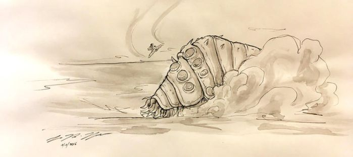 Inktober-Day 7-Nausicaa of the Valley of the Wind by seanpt
