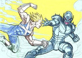 DBZ Marvel: Vegeta vs Ultron by ssjgogeto