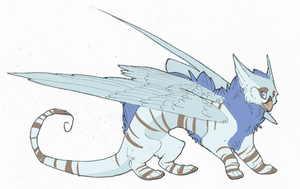 Random weird dragon/eyrie design by Draxorr