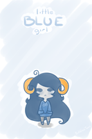 Little Blue Girl by BubblesTea