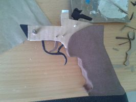 Thompson Contender WIP 3 by BuildMyPaperHeart