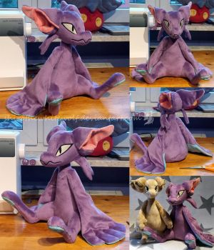 Project Frank the Sitting Fornlee Plush Prototype by ShiroTheWhiteWolf