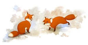 Foxies by autogatos