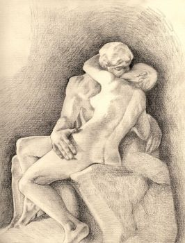 The Kiss by Rodin by Strooitje