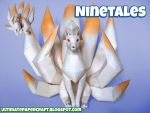 Pokemon Papercraft Ninetales by squeezycheesecake