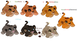 Crazy pairing adopts2/Random cub adopts CLOSED by awesomist1