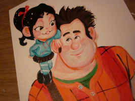 Wreck It Ralph and Vanellope by TheDorkyDerpster