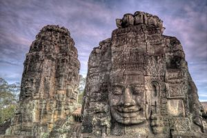 Face towers of the Bayon III by MotHaiBaPhoto