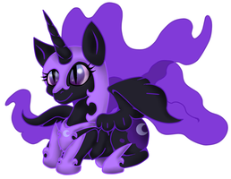 Discord Nightmare Moon chibi by LunerUmbreon