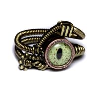 Steampunk ring alligator by CatherinetteRings