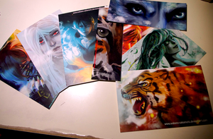 Selling postcards and bookmarks in Cadiz (Spain) by wakana-sakamoto