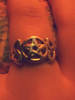my new Celtic pentacle ring by ElwynDivine
