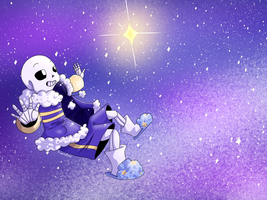 Drifting among stars: outertale sans by Sushi-Cat333