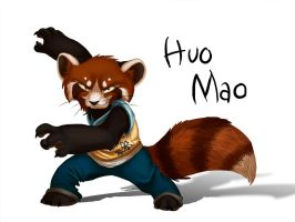 Kung Fu RED Panda by nooby-banana