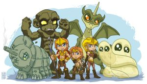 The Lil Herculoids by lordmesa