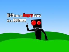 Angry Robot On Journey by ensellitis