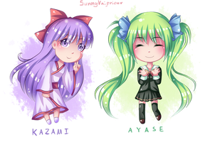 AT: Pair of Chibis by SunnyVaiprion