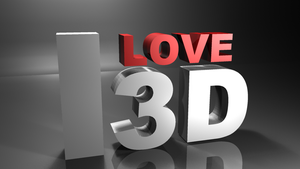 I Love 3D by Luned13