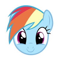 Rainbow Dash cute grin by V-D-K