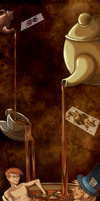 tea time  - bookmark by lizardberry