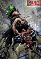 Spiderman_vs_Venom_color by Vinz-el-Tabanas