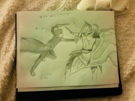 Kirito vs Heathcliff by kenchinblade