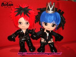 Die and Toshiya plush version by Momoiro-Botan