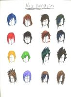 male hairstyles 1 by YuhiUmi